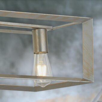 Gold 5 Light Industrial Island Pendant Light