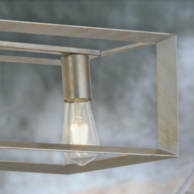 Gold 5 Light Industrial Island Pendant Light
