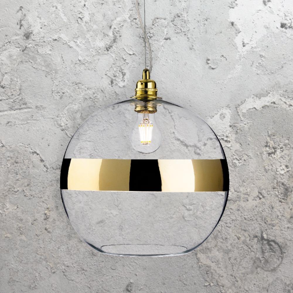 Gold glass ball pendant light cl 38621