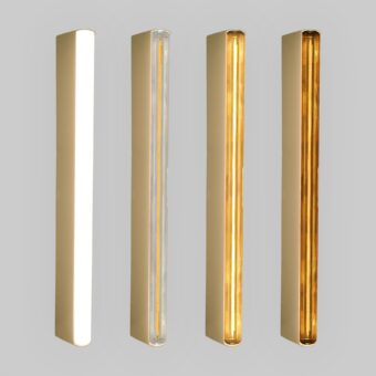 Gold LED Tube Wall Light