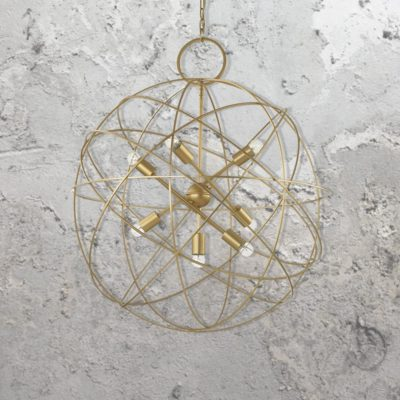 Gold Orb Pendant Light