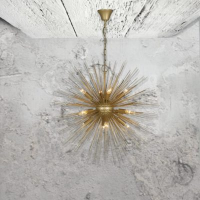 Gold Starburst Pendant Light