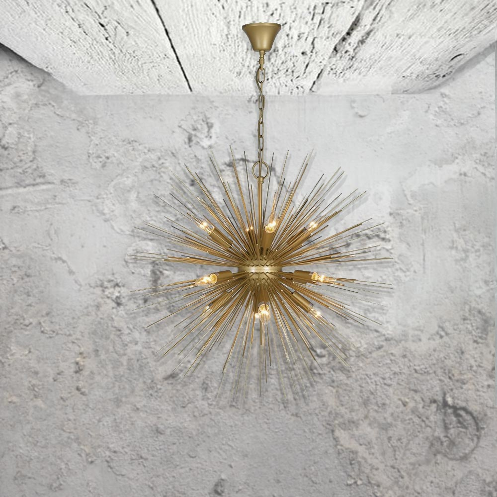 Gold starburst pendant light cl 34818
