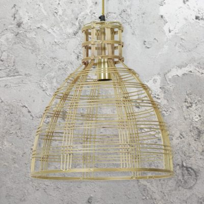 Gold Vintage Wire Pendant Light