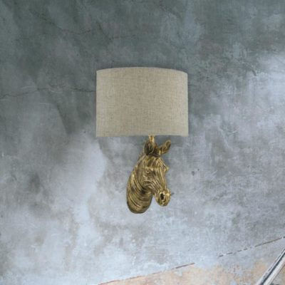 Gold Zebra Wall Light