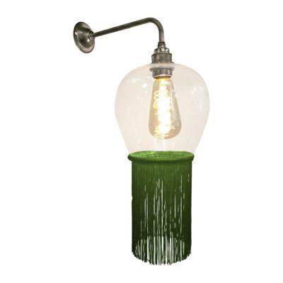 Grass Green Fringe Glass Wall Light