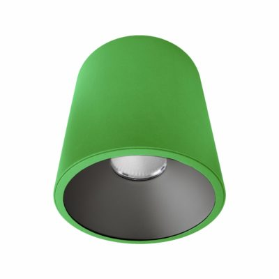 Green Black Surface Mounted LED Downlight