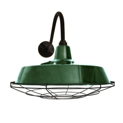 Green Enamel Wall Light
