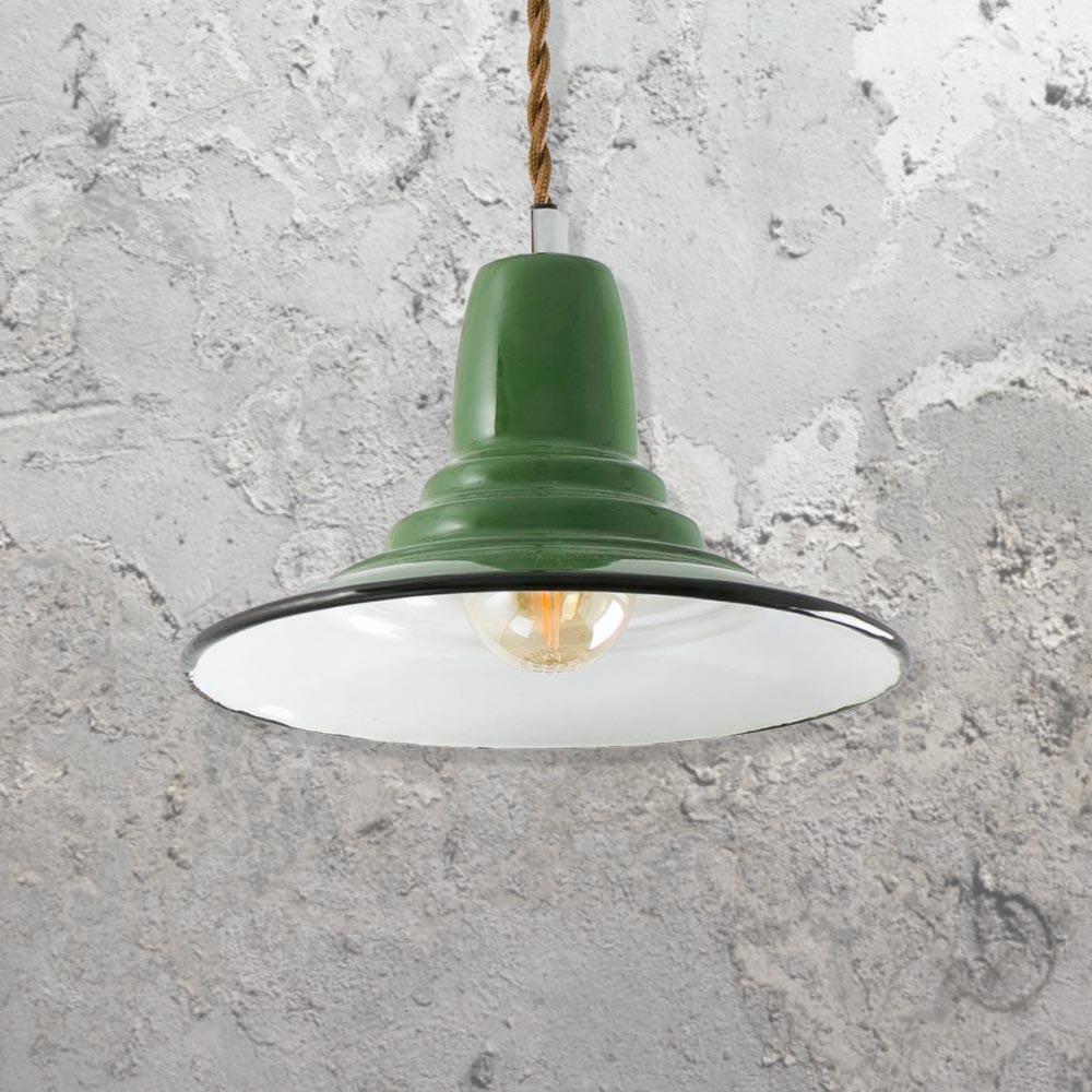 Green Industrial Pendant Light Cl 32676