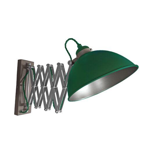 Green Scissor Arm Wall Light Gunmetal Inner