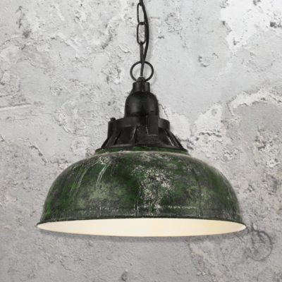Green Verdigris Pendant Light