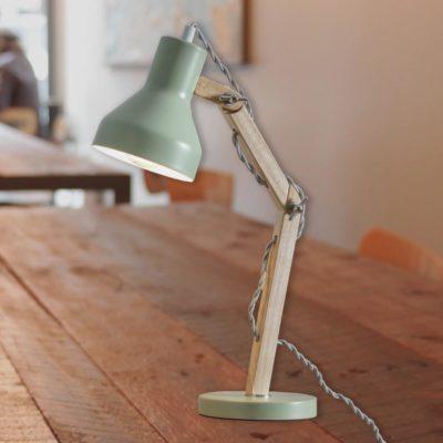Green Wooden Desk Lamp