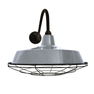 Grey Enamel Wall Light