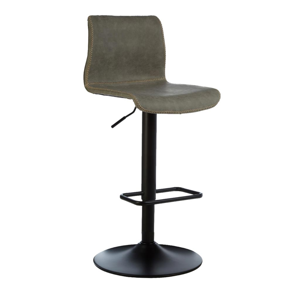 Fabulous Grey Leather Swivel Bar Stool Cl 40092 Alphanode Cool Chair Designs And Ideas Alphanodeonline