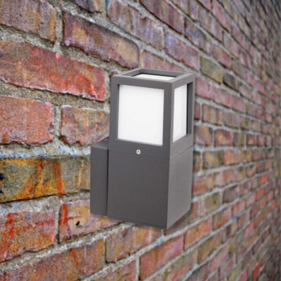 Grey Outdoor Wall Light