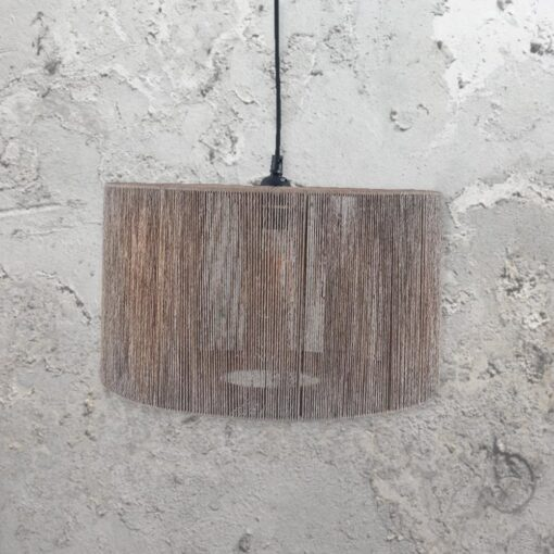 Grey Rope Shade Pendant Light