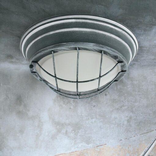 Grey Round Ceiling Bulkhead Light