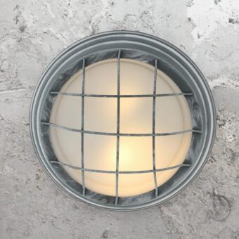 Grey Round Ceiling Bulkhead Light