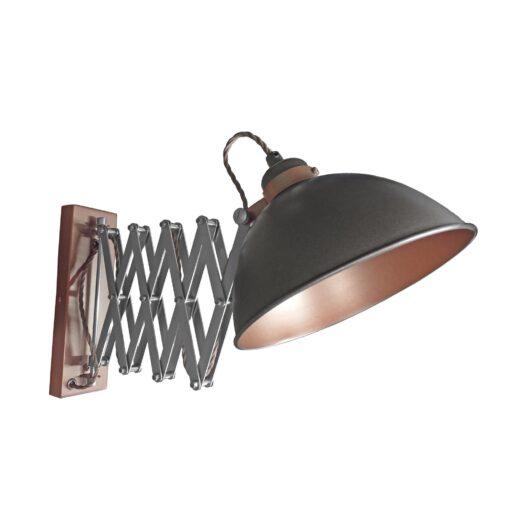 Gunmetal Scissor Arm Wall Light Bronze Inner