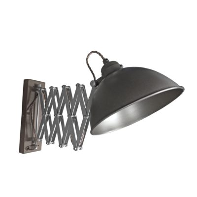 Gunmetal Scissor Arm Wall Light