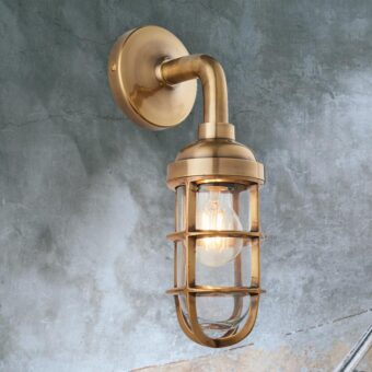 Heavy Brass Wall Light