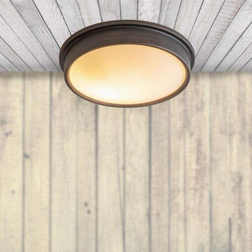 IP44 Antique Bronze Flush Ceiling Light