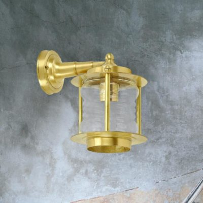 Indoor Natural Brass Wall Lantern