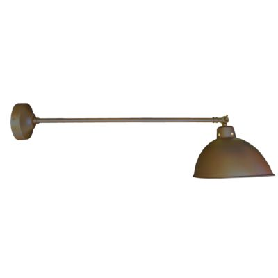 Industrial Antique Brass Long Arm Wall Light