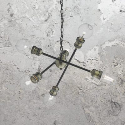 Industrial Arms Cluster Chandelier