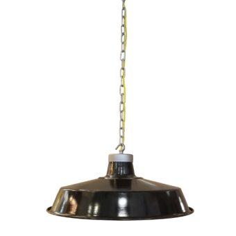 Industrial Black Enamel Pendant Light
