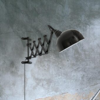 Industrial Black Scissor Wall Light