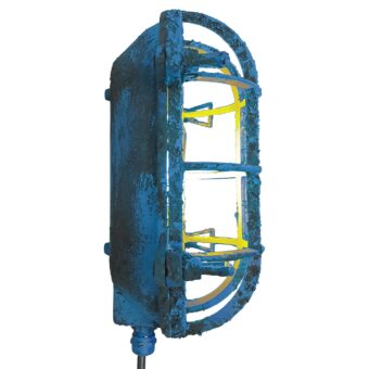 Industrial Blue Oval Bulkhead