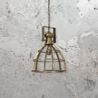 Industrial Bronze Cage Pendant Light