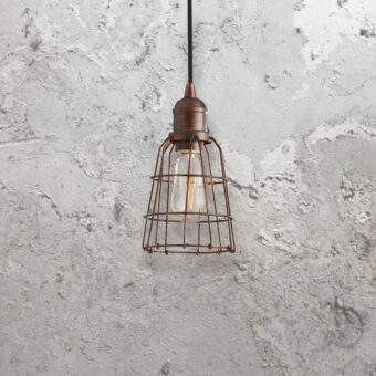 Industrial Bronze Pendant Light