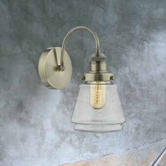 Industrial Champagne Glass Wall Light