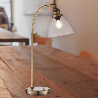 Industrial Clear Glass Table Lamp