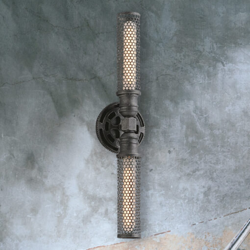 Industrial Double Gear Wall Light