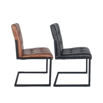 Industrial Iron Framed Leather Chair