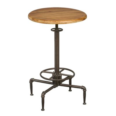 Industrial Iron Wood Bar Table