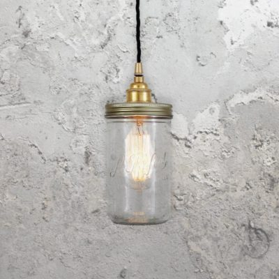 Industrial Jam Jar Pendant Light