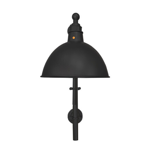 Industrial Matt Black Steampunk Wall Light