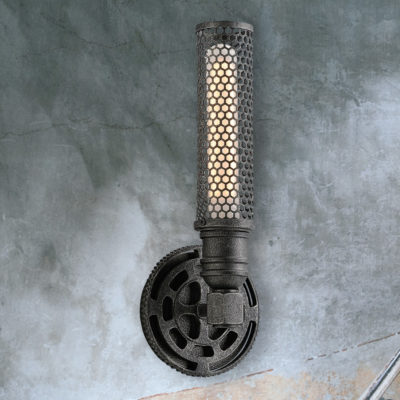 Industrial Mesh Gear Wall Light