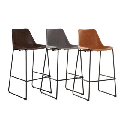 Industrial Minimal Back Bar Stool