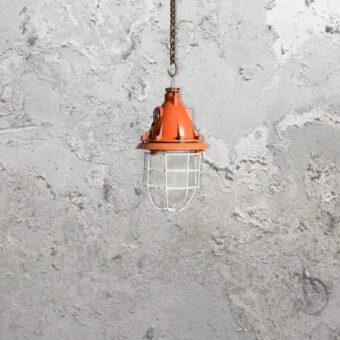 Industrial Orange Pendant