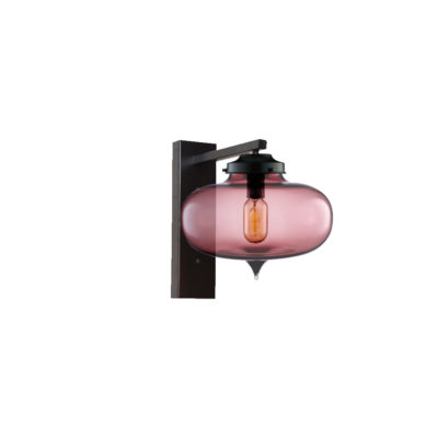 Purple Glass Wall Light,Industrial Round Glass Wall Light