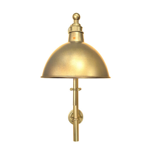 Industrial Satin Brass Steampunk Wall Light