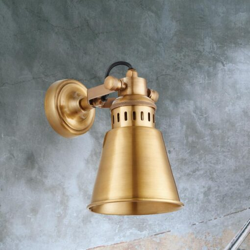 Industrial Solid Brass Wall Light