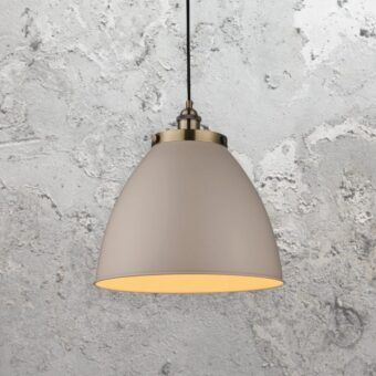Industrial Taupe Pendant Light