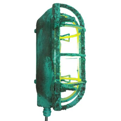 Industrial Turquoise Oval Bulkhead