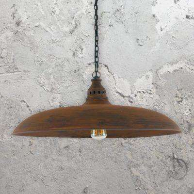 Industrial Wide Metal Pendant Light